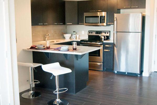 photo of kitchen at Pacific Rise, Edmonton, Alberta
