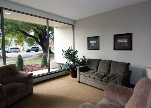 photo of the living room at Willow Estates, Red Deer, Alberta