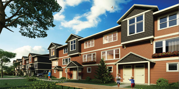 photo of the exterior of The Hudson Townhomes, Fort St. John, British Columbia