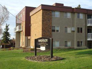 photo of the exterior of The Madison, Leduc, AB