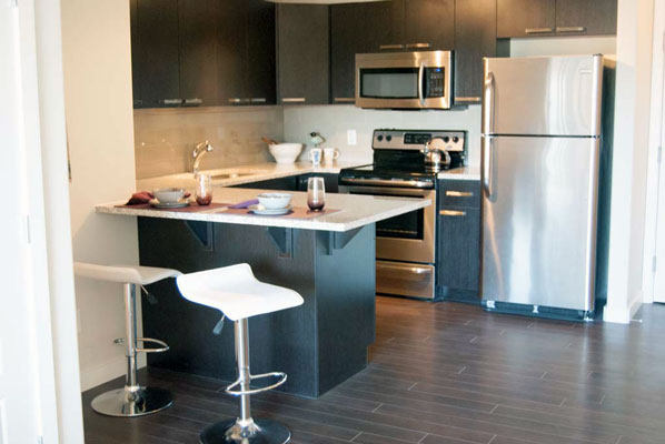 photo of kitchen at Pacific Rise, Edmonton, Alberta